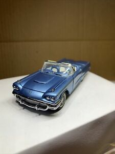 1:43 FRANKLIN MINT 1958 FORD THUNDERBIRD CONVERTIBLE