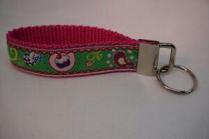 Handgefertigtes Schlüsselband Cupcakes grün/pink ca. 10 cm