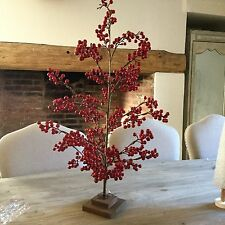 75 cm Artificiale Red Berry Albero di Natale Decorazione Tavolo Vintage Chic