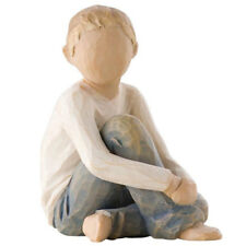 Willow Tree  Caring Child Figurine 26228 Boy Son Grandson in Branded Gift Box