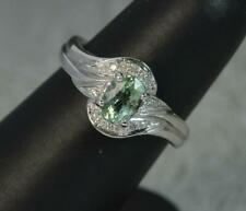 Paraiba Tourmaline and Diamond 18ct White Gold Ring d0349