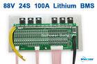 86.4V 88V 92.4V 24S 100A 24x 3.6V 3.7V 4.2V Lthium Li-ion Li-Po Battery PCB BMS