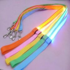LED Dog Leash Night Safety LED Light Up Flashing Glow In Dark Dogs Nylon Collar