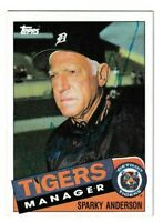 1985 Topps Sparky Anderson Autographed Card - Detroit Tigers TTM - #307