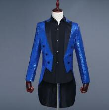 Mens Tuxedo Bling Sequins Suit Jacket Formal Coat Dress Show Jacket Blazer New