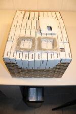 Merten Abdeckrahmen für Steckdosen 50 Stück M-Plan Rahmen einfach Silber
