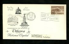 Postal History Canada Fdc #442 Rose Craft Ottawa National Capitol 1965