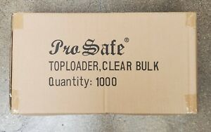 "PRO Safe 3"" x 4"" Standard Card Size TOP LOADERS Case 1000 35 Pt. Ultra Clear"