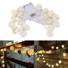 20 Luminaria Led Rattan Balls Fairy String Decorative Lights Battery Operated G4