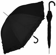 "48"" Parasol Style Auto Umbrella - RainStoppers, Rain/Sun, UV, Costume"