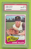 1965 Topps - Gene Alley (#121)  Pittsburgh Pirates   PSA 8 NM-MT