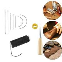 Nähnadeln Stitching Awl Needle Set Thread Fingerhut Lederwerkzeug Schuhrepa J1Z2