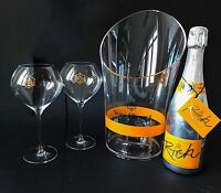 Veuve Clicquot 'Rich' Champagner 0,75l 12% Vol + 2 Rich Glas Gläser + Kühler