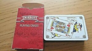 """Smirnoff"" Vodka Playing Cards - 2000's. Plastic Coated - Brand New and Sealed."
