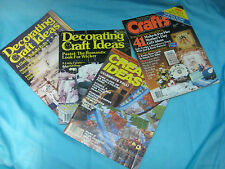 Vintage Decorating / Craft Magazines - Lot of 4