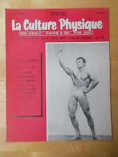 LA CULTURE PHYSIQUE bodybuilding muscle magazine/JEAN-LOUIS JEAN 10-57