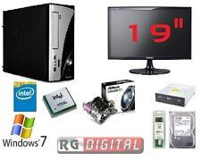 "PC DESKTOP INTEL QUAD CORE COMPLETO HD 500GB/RAM 4GB/HDMI/USB 3.0 MONITOR 19"""