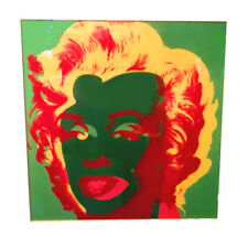 "Andy Warhol Marilyn Monroe Offset Lithograph Print ""Green"" Custom Metal Frame"