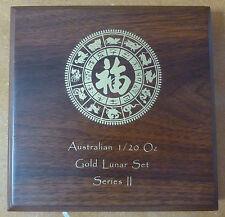 Lunar Series 2 monete in legno Box per 12 x 1/20 XX 1/20 OZ monete d'oro