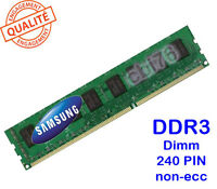 Mémoire DDR3 1GB/GO Samsung PC3-10600U-1333Mhz CL9 M378B2873EH1-CH9 240PIN 1Rx8
