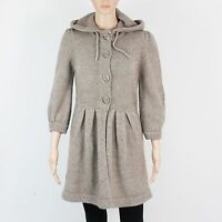 TopShop Womens Size 10 Brown Knit Button Up Cardigan Dress