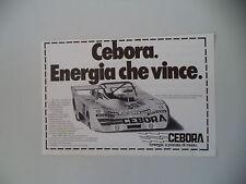 advertising Pubblicità 1980 CEBORA e MAURO NESTI e LOLA 2000
