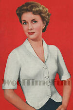 Knitting Pattern Vintage 1950s Ladies Fitted Jacket. 34 to 36 Inch Bust.