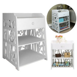 KIDS ROOM Modern Bedside Table Sofa Side Cabinet Bedroom Nightstand with Drawer