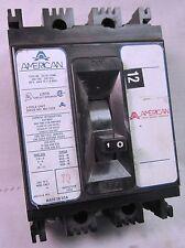 American 100 Amp, 3 Pole Circuit Breaker, Ne Used