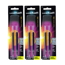 6 Uni-Ball Gel Impact RT Rollerball Pen Refills, 1.0mm, Bold Point, Blue Ink