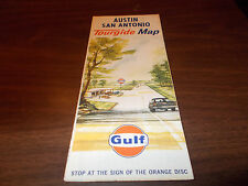 1963 Gulf San Antonio/Austin Vintage Road Map