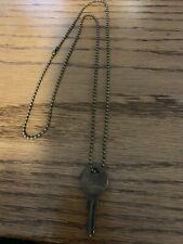 The Giving Keys Classic Ball Chain Oxidized Brass- COURAGE