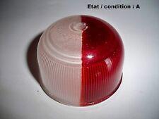 Cabochon feu gabarit bicolore rouge blanc en verre MARCHAL 103844