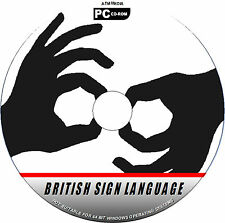 2 DISC SET BRITISH SIGN LANGUAGE TUTORIAL HAND SIGNING FOR DEAF NEW DVD&PCCD ROM