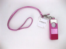 New NWT Coach pink leather stripe ipod shuffle 3 gen case w/dust bag