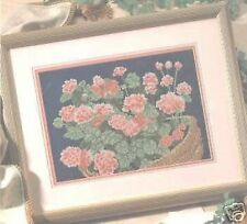Florece cross stitch chart patrón de color rojo brillante Ramo De Flores
