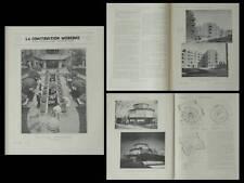 LA CONSTRUCTION MODERNE n°8 1933 DUGNY, CITE PONT YBLON, GERMAIN DOREL, CHICAGO