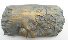 Log bee mold plaster mold concrete mold garden casting plaque mould