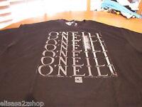 Men's O'Neill T shirt large L LG black Roman premium TEE NEW NWT surf skate