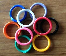 """25 Poultry Spiral ID Leg Bands Standard Size 11 Chicken colored 11/16"""" Beaktime"""