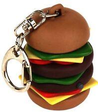 kikkerland HAMBURGER Keyring KRL35 Burp Belching Sound key chain cheese burger