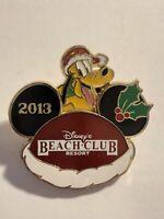 Happy Holidays 2013 - Disney's Beach Club Resort Pluto Earhat Disney Pin LE (B8)