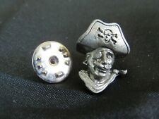 Vintage 1984 IFS Pewter Pin Pinback Tie Tac **PIRATE