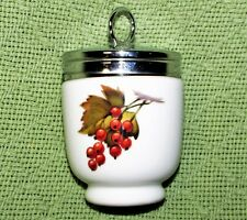 ROYAL WORCESTER EGG CODDLER PLUM Red CURRANTS Porcelain JUMBO Size EVESHAM