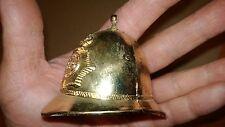 Vintage Gold Tone Bobby ER Metropolitan Police Helmet Miniature Bell England
