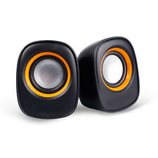 New USB Stereo Speakers For Laptop Desktop Computer MP3 Music Player Black