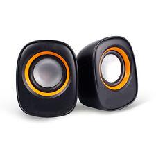 New USB Stereo Speakers For Laptop Desktop Computer MP3 Music Player Black
