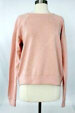 NWT Abercrombie & Fitch Sweatshirt Women's Logo Pullover Fleece Sweater L Pink