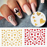 3D Nail Stickers Glitter Heart Shaped Nail Art Transfer Decals Tips Decoration