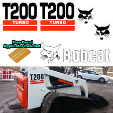Bobcat T200 TURBO Skid Steer Set Vinyl Decal Sticker 5 PC SET + DECAL APPLICATOR